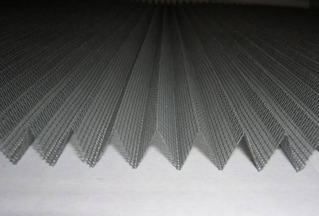 Fiberglass pleated plisse window/door screen