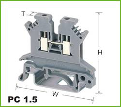 Din-rail Terminal Wire arrage:0.2-1.5mm2 Part No.PC1.5
