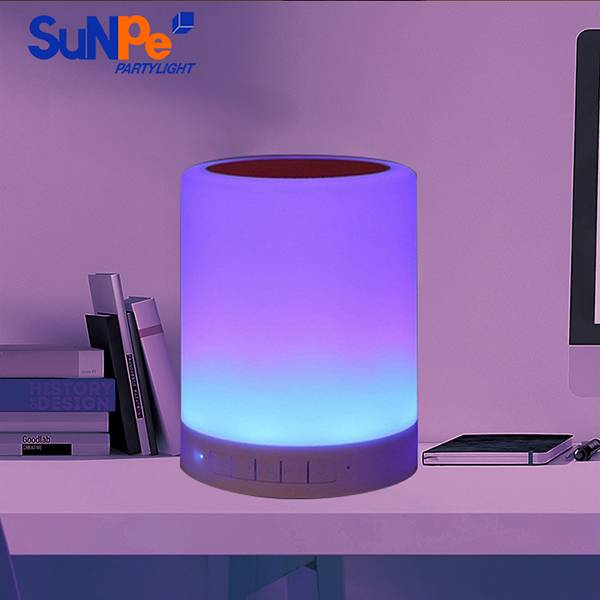 Touch Sensor Lamp Bluetooth speaker with White and Seven Colors changing