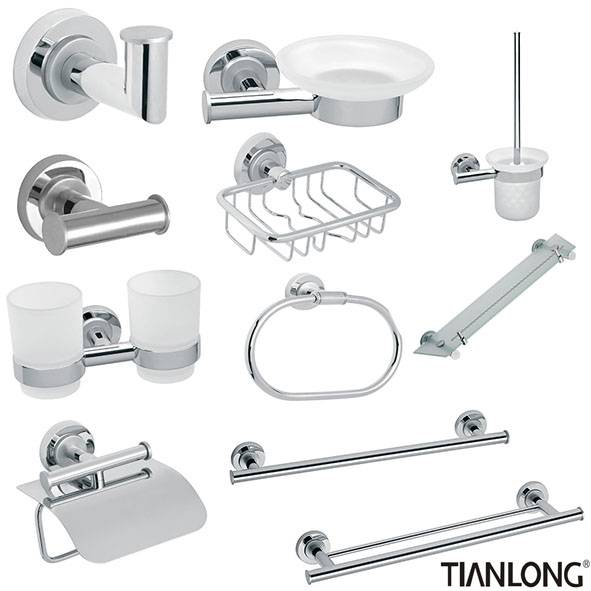 stainless steel with chrome finished bathroom asscessories