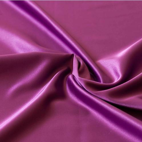 polyester and spandex matte stretch satin