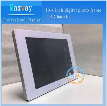 LED backlit 10.4 inch digital photo frame
