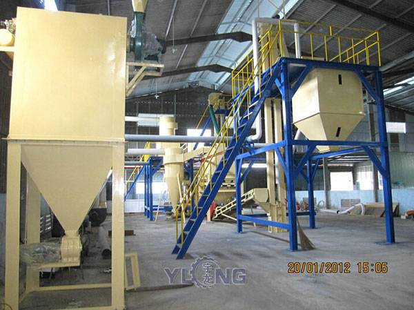 wood pellets machinery line , wood pellet press machine