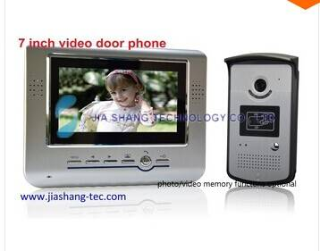 7 inch video door phone intercom door bell door entry system,card open door