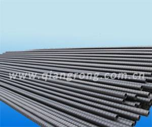 Prestressed spiral corrugate pipe for vacuuming grouting
