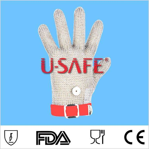 Wholesale stainless steel finger protect metal mesh glove