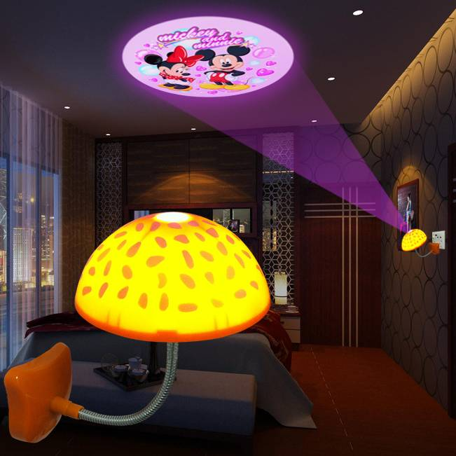 mushroom projector night lamp