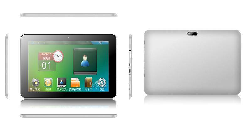 10.1-inch IPS Tablet PC, Quad-core Cortex-A9 Up to 1.6GHz, Wi-Fi