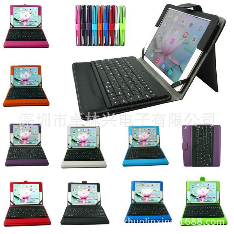 For Apple iPad Air 5 Removable Bluetooth Keyboard Leather Case Cover Wake/sleep