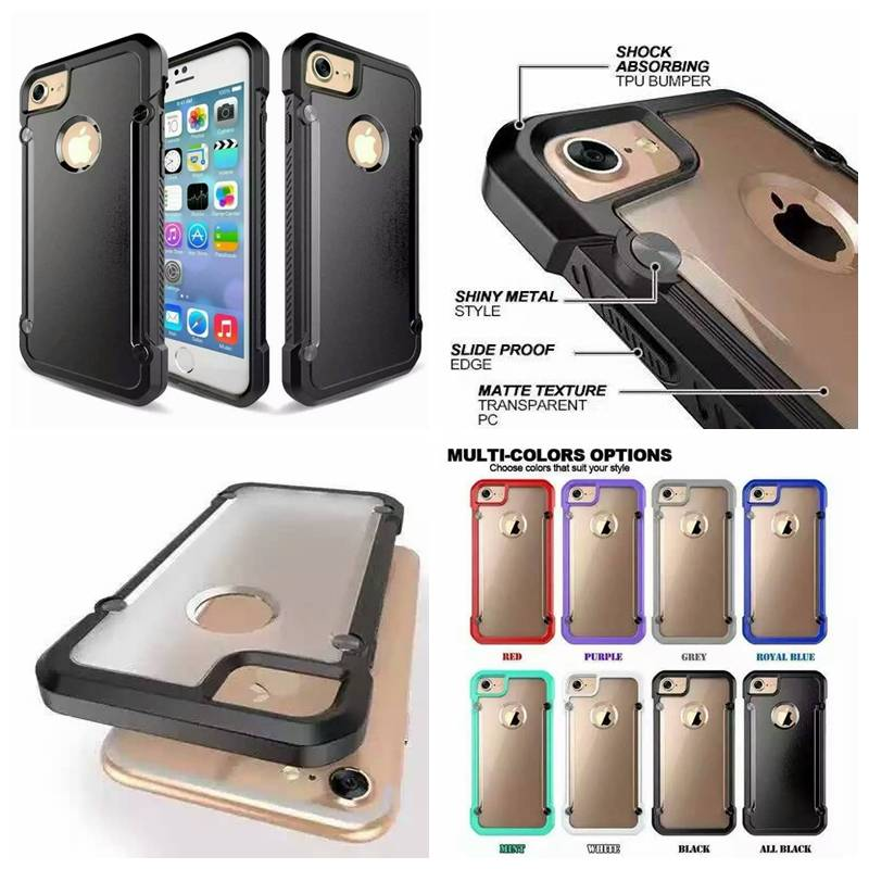 Back Transparent PC With TPU Frame Case, Cellphone Flip Leather Protective Cover Cases