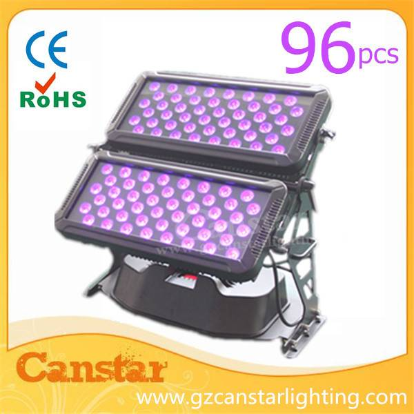 Ip65 RGBAW UV 6 in 1 High power outdoor led city colour light 96x18w