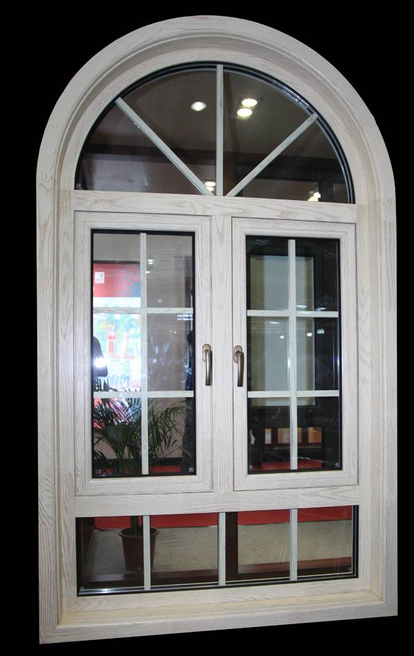 Wood with Aluminium Composited Arched Windows