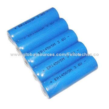 Lithium thionyl chloride Li-SOCL2 3.6V battery primary AA size ER14505 for CMOS transmitter receiver