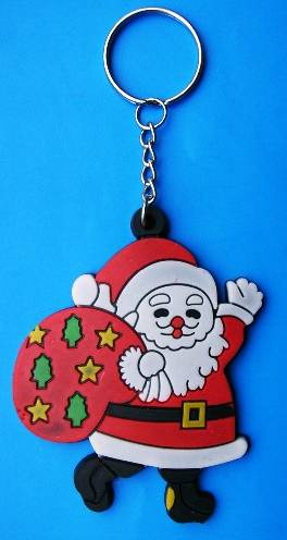 Christmas Gift Silicone Key Chain
