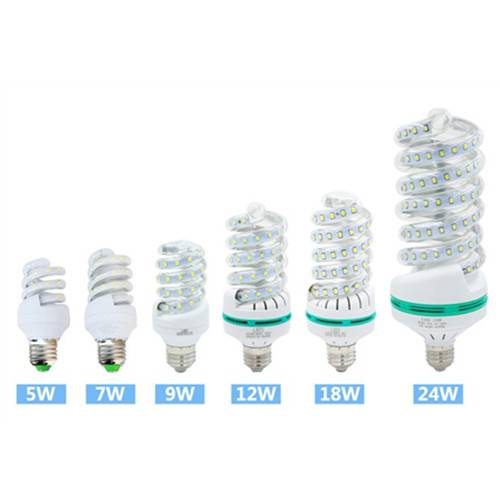 Energy saving full spiral 5W 7W 9W 12W 18W 24W LED Corn light lamp E27 E14 B22 Good quality