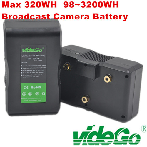 videGo 320wh 290wh 230wh V-mount Battery /Gold Mount Battery /Sony Battery /broadcast camera Battery