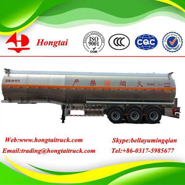 3-axles 47.32 m3 good used and cheap fuel tanker semi trailer