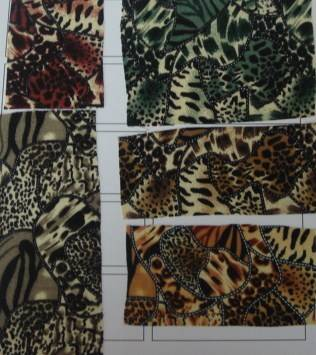 rayon challie printed fabric