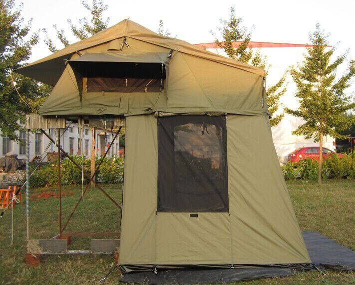 Stock roof top tent with extension