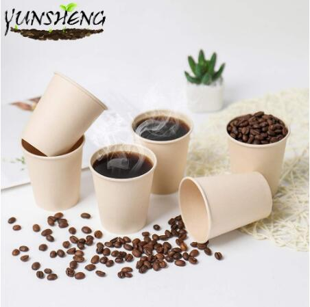 Sell Disposable Kraft or Bamboo Paper Coffee Cup
