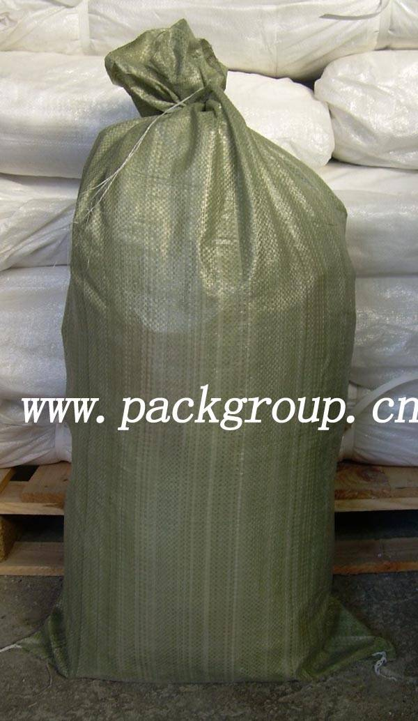 sell green Polypropylene garbage bags for construction debris