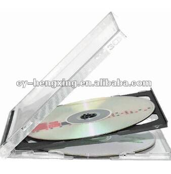 10mm PS black jewel cd case for 3 dices
