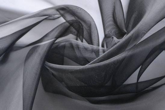 Netscoco Shoes Plain Weave Nylon Mesh Black Color