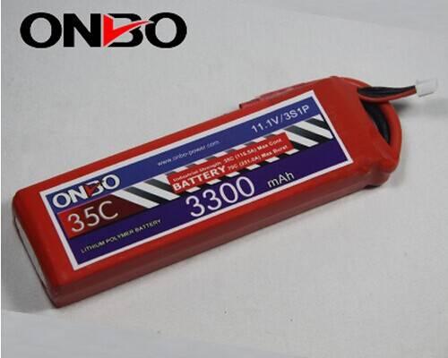 ONBO 3300mah 35C 3S 11.1V Lipo Batteries
