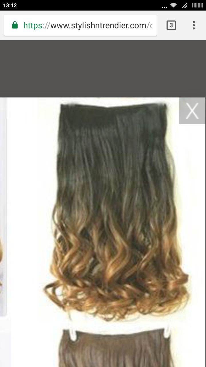Required synthetic hair extensions