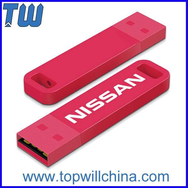 Slim Rectangle 16GB Usb Flash Drive Large Logo Printing Area