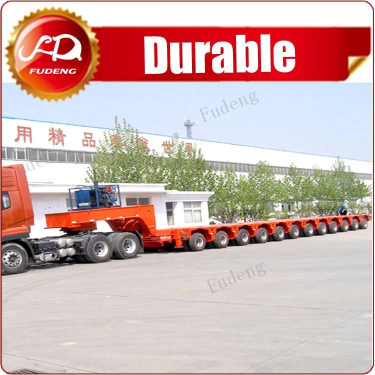 Fudeng brand modular trailer , multi axle hydraulic low bed trailer , self-propelled modular transpo