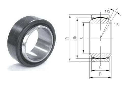 Spherical plain bearing GE20ET-2RS