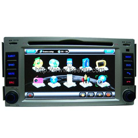 All-in-one Special Car DVD Player for Hyundai New Santa Fe