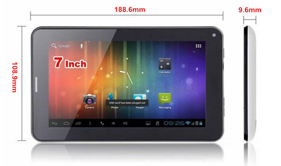 Allwinner A23 Dual Core 7 inch Android 4.4 wifi tablet PC-HLM86V