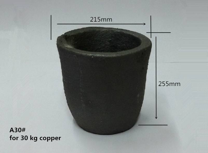 H314OD 253BD178mm sic Graphite Crucible for 10.8kg Alumina melting or 30kg copper /high temperatur