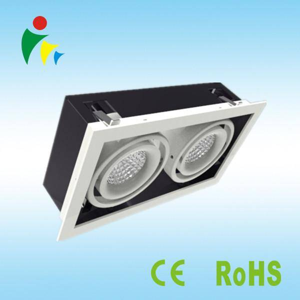 LED downlight 15WX2 high lumin cob led grille light