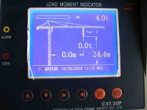 RC Tower Crane Load Moment Indicator