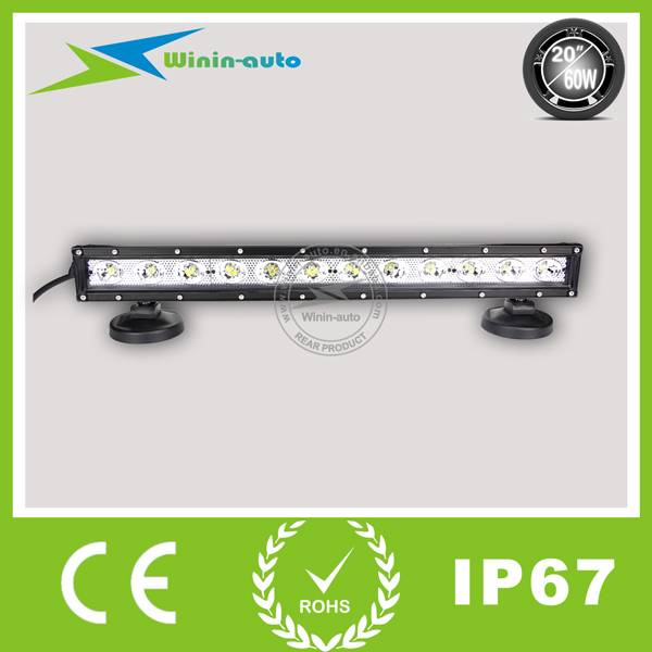 20 60W single row LED work light bar for truck Atv SUV 5400 Lumen WI9012-60