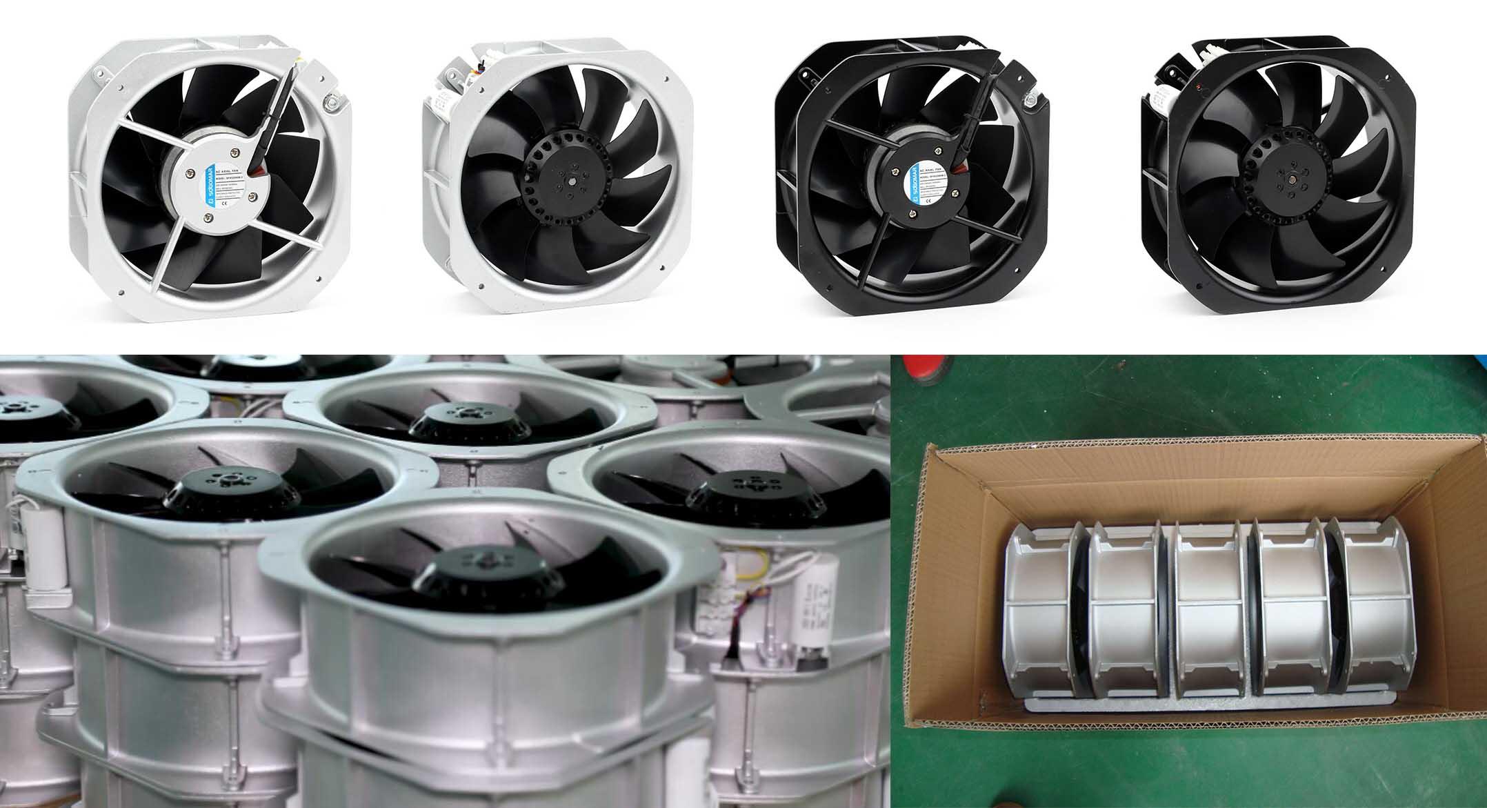sell axial fan 225x225x80mm metal blades 220VAC