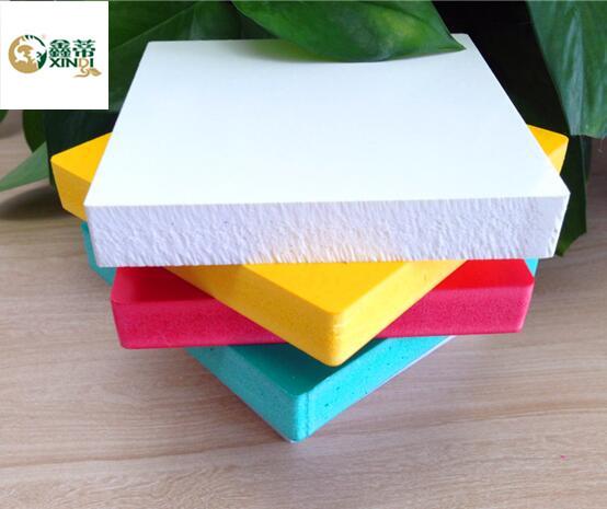 Colored hign density PVC Foam Sheet for advertising