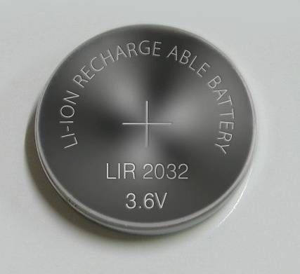 3.6 V LIR2032 li-ion rechargeable button battery coin battery for toys cameras,smoking alarm, MP3/4