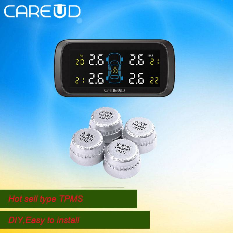 2015 popular wireless TPMS, tyre pressure monitoring system,CAREUD tpms