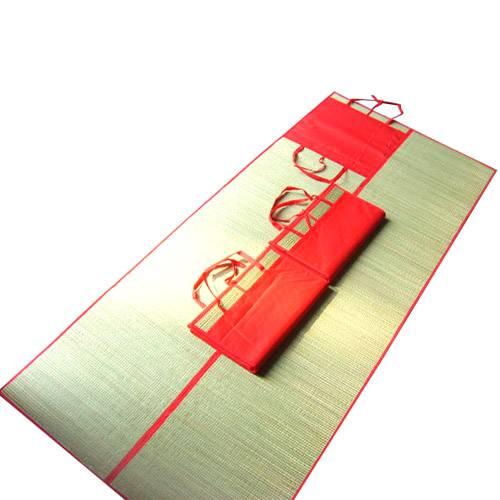 folded beach mats