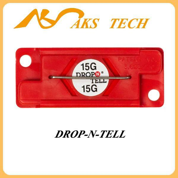 impact indicator label Drop N Tell private label on packing