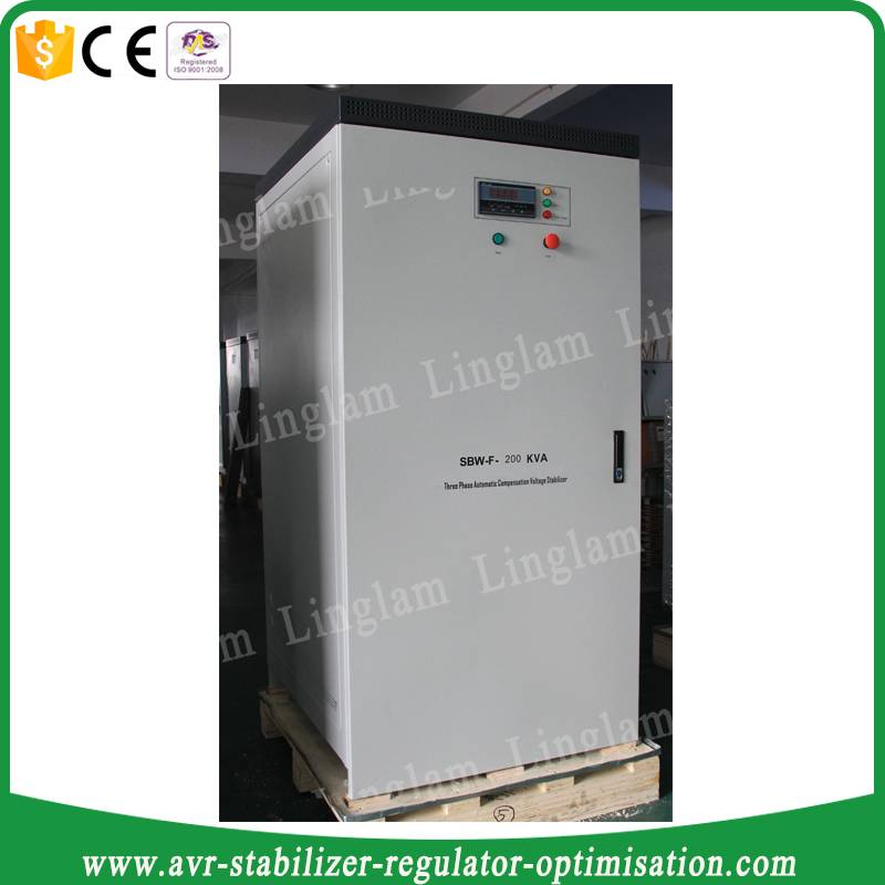 full power 200kva industrial compensated voltage stabilizer/avr