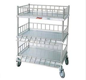 Hospital medical instrument stainless steel trolley RCS-031
