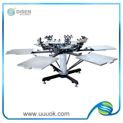 6 colors manual t-shirts screen printing machine price