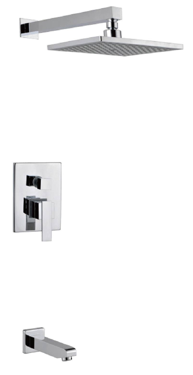 Contemporary chrome brass wall mounted bathroom concealed shower mixer
