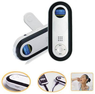 FL-820 LED flashlight Crank Dynamo MP3 Player with Micro SD card slot, Support max 8G of extended TF