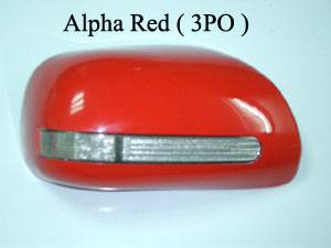 DOOR MIRROR COVER WITH LED -- Toyota Yaris , New Vios 2007 ( Clip Lock system )